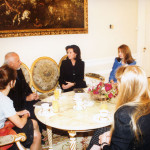 com Paulo Coelhoe a Primeira Dama Jolanta Kwaśniewska