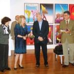 Inauguração de exposição de arte gráfica de Marian Nowiński em Cascais