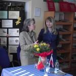 com a Embaixadora de Portugal em Varsóvia, SE Maria Amélia Paiva